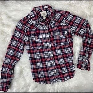 Forever 21 Flannel Plaid Shirt Size Small